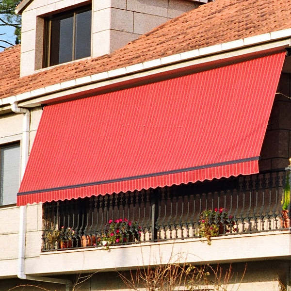 Awnings in balconies