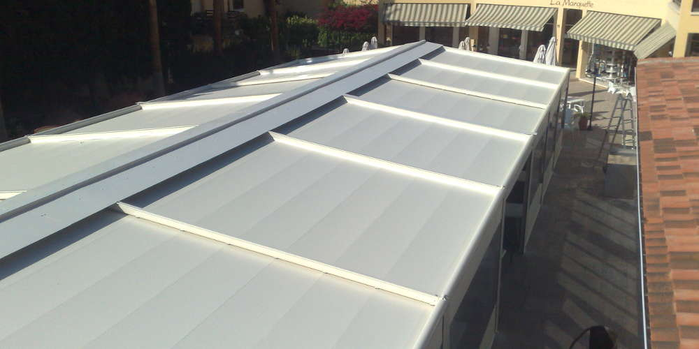 Waterproof patio cover installation